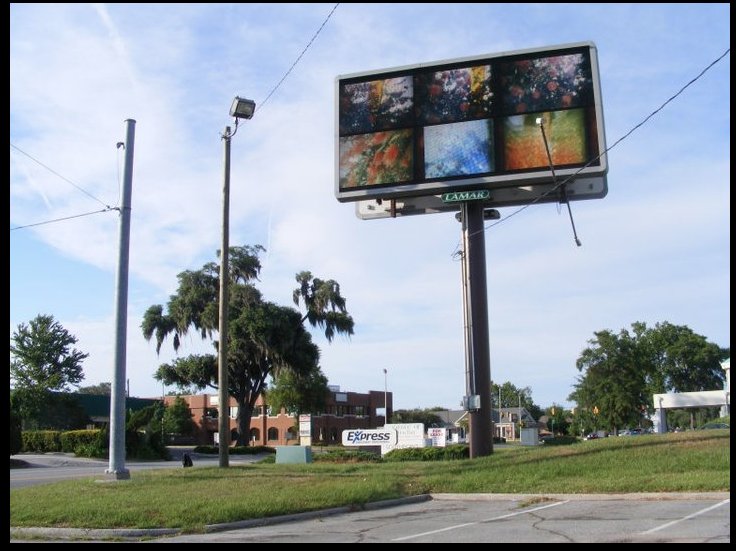 Billboard with super8mm film stills