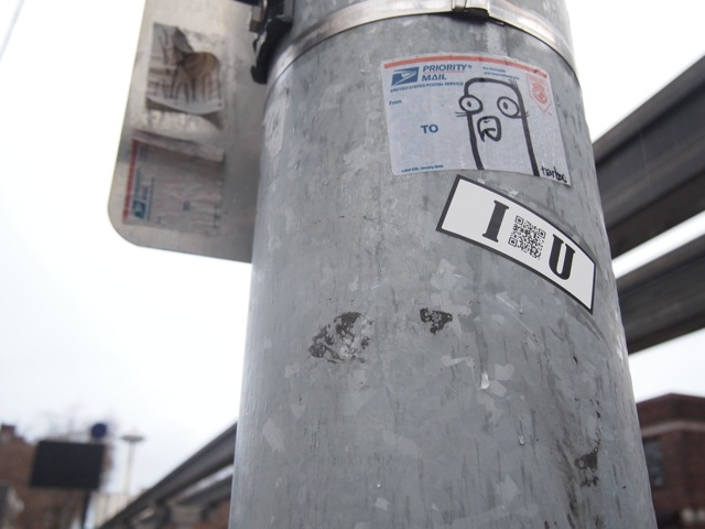 Sticker in public
